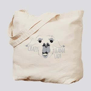 Crazy Llama Lady Tote Bag