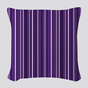 Purple Stripes Woven Throw Pillow