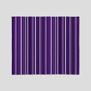 Purple Stripes Throw Blanket