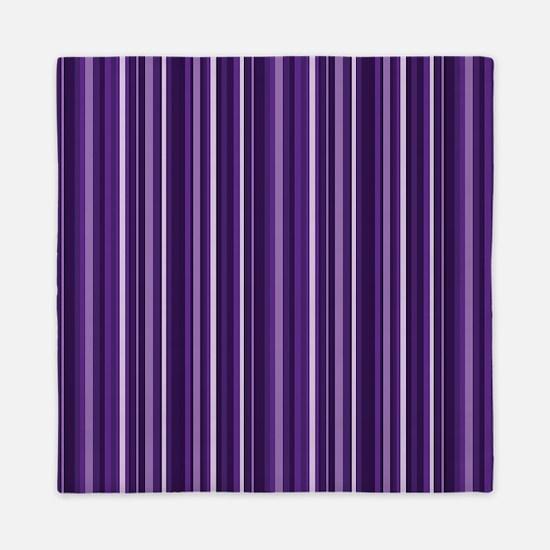Purple Stripes Queen Duvet