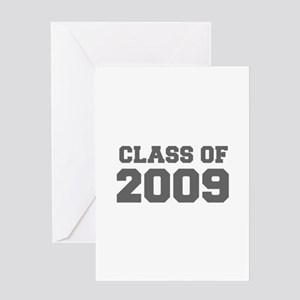 CLASS OF 2009-Fre gray 300 Greeting Cards