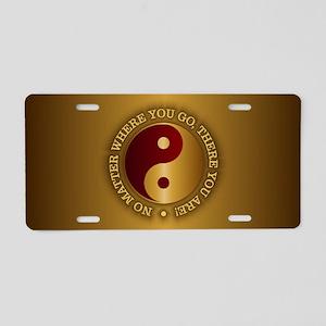 Yin Yang (Gold-Maroon) Aluminum License Plate