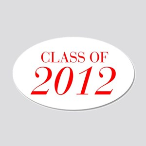 CLASS OF 2012-Bau red 501 Wall Decal