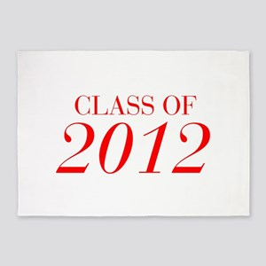 CLASS OF 2012-Bau red 501 5'x7'Area Rug