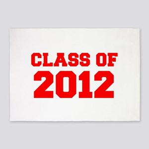CLASS OF 2012-Fre red 300 5'x7'Area Rug
