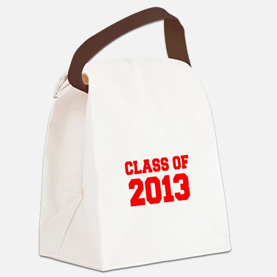 CLASS OF 2013-Fre red 300 Canvas Lunch Bag