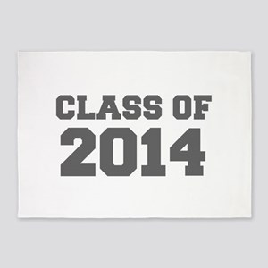 CLASS OF 2014-Fre gray 300 5'x7'Area Rug