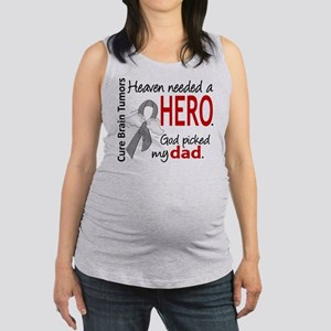 Brain Tumor HeavenNeededHero1 Maternity Tank Top