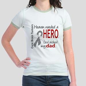 Brain Tumor HeavenNeededHero1 Jr. Ringer T-Shirt