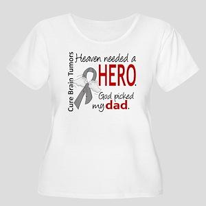 Brain Tumor H Women's Plus Size Scoop Neck T-Shirt