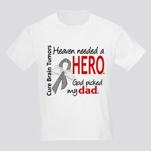 Brain Tumor HeavenNeededHero1 Kids Light T-Shirt