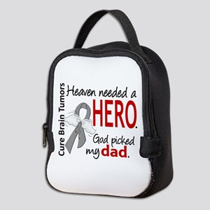 Brain Tumor HeavenNeededHero1 Neoprene Lunch Bag