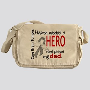 Brain Tumor HeavenNeededHero1 Messenger Bag