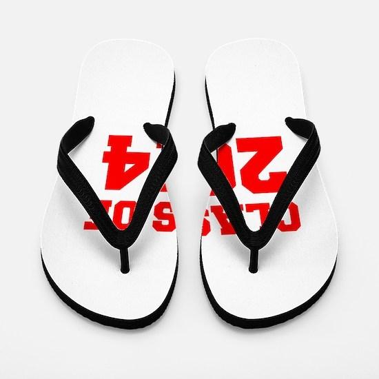 CLASS OF 2014-Fre red 300 Flip Flops