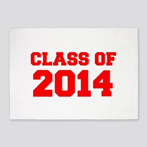 CLASS OF 2014-Fre red 300 5'x7'Area Rug