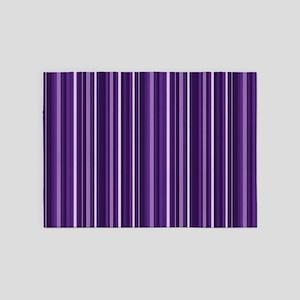 Purple Stripes 5'x7'area Rug