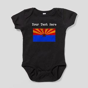 Arizona State Flag (Distressed) Baby Bodysuit