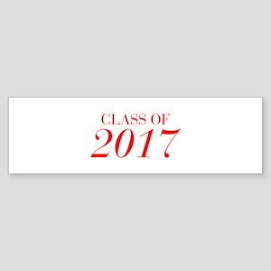 CLASS OF 2017-Bau red 501 Bumper Sticker