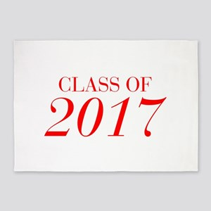 CLASS OF 2017-Bau red 501 5'x7'Area Rug