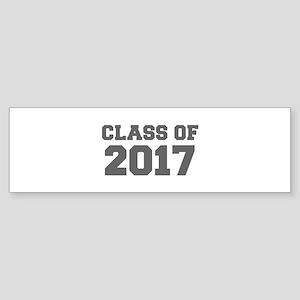CLASS OF 2017-Fre gray 300 Bumper Sticker