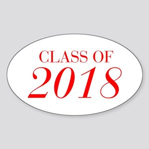 CLASS OF 2018-Bau red 501 Sticker