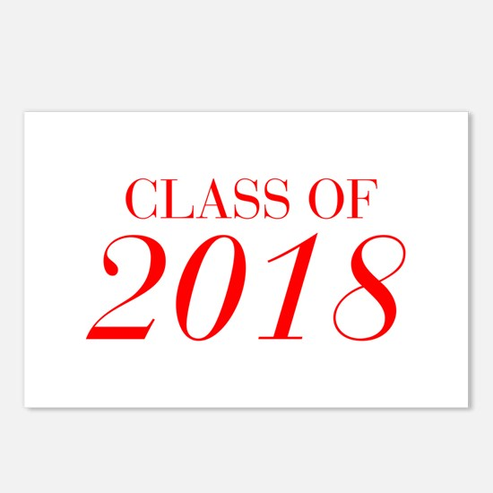 CLASS OF 2018-Bau red 501 Postcards (Package of 8)
