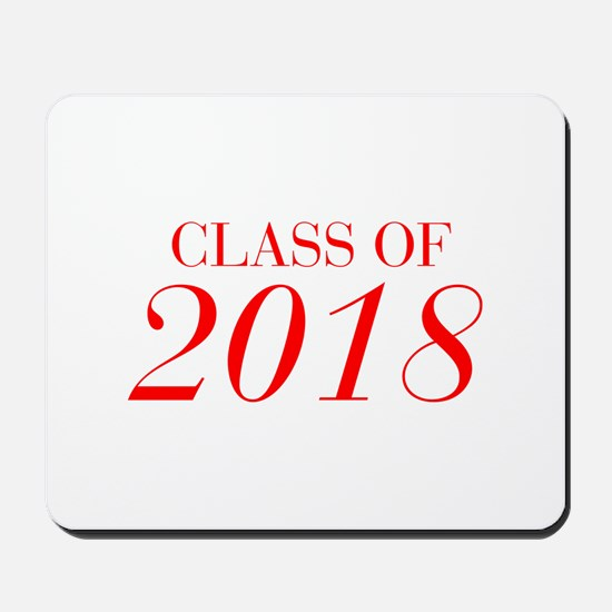 CLASS OF 2018-Bau red 501 Mousepad