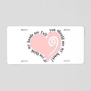 Full Heart Aluminum License Plate