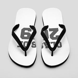 CLASS OF 2019-Fre gray 300 Flip Flops