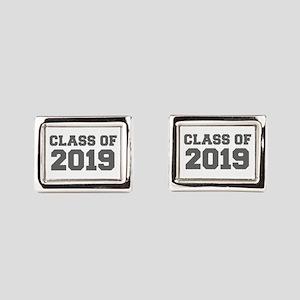 CLASS OF 2019-Fre gray 300 Rectangular Cufflinks
