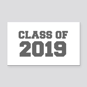 CLASS OF 2019-Fre gray 300 Rectangle Car Magnet