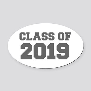 CLASS OF 2019-Fre gray 300 Oval Car Magnet