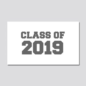 CLASS OF 2019-Fre gray 300 Car Magnet 20 x 12