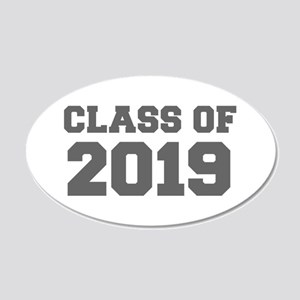 CLASS OF 2019-Fre gray 300 Wall Decal