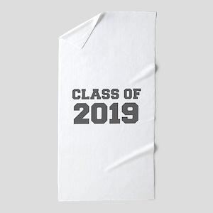 CLASS OF 2019-Fre gray 300 Beach Towel