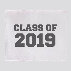 CLASS OF 2019-Fre gray 300 Throw Blanket