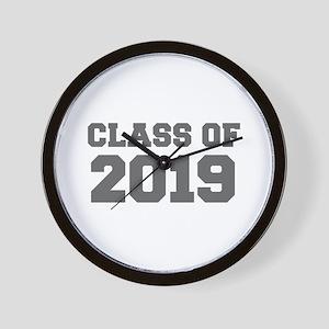 CLASS OF 2019-Fre gray 300 Wall Clock