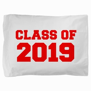 CLASS OF 2019-Fre red 300 Pillow Sham