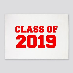 CLASS OF 2019-Fre red 300 5'x7'Area Rug