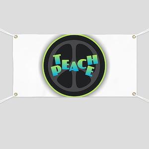 Teach Peace - Blue Green Banner