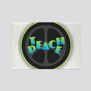 Teach Peace - Blue Green Magnets