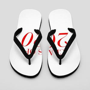 CLASS OF 2020-Bau red 501 Flip Flops