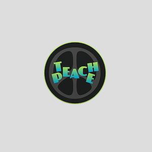 Teach Peace - Blue Green Mini Button