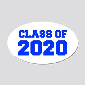 CLASS OF 2020-Fre blue 300 Wall Decal