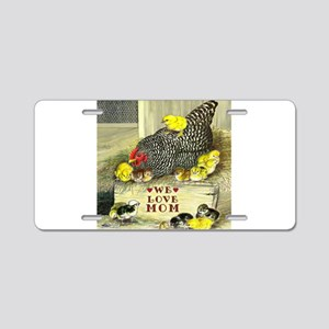 We Love Mom! Aluminum License Plate