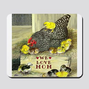 We Love Mom! Mousepad