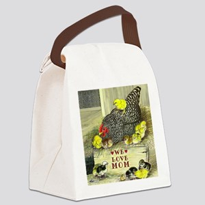 We Love Mom! Canvas Lunch Bag