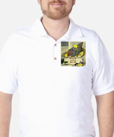 We Love Mom! Golf Shirt