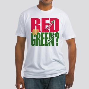 Red or Green? Fitted T-Shirt