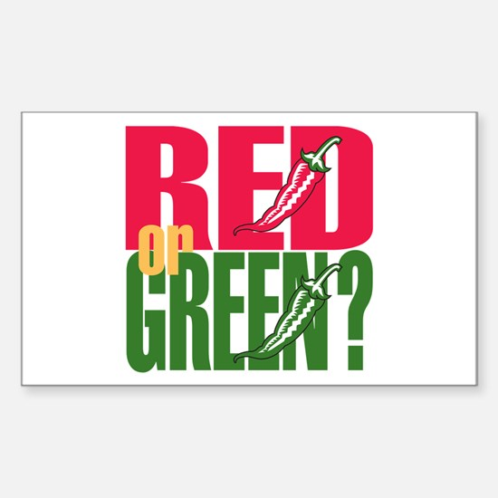 Red or Green? Rectangle Decal